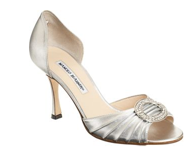 Sex and the City, A Woman's Right to Shoes, Carrie Bradshaw, Manolo Blahnik, Manolos, Manolo Blahnik Metallic Silver D'Orsay Pump, pump, pumps, shoe, shoes, heel, heels, Manolo Blahnik pumps, Manolo Blahnik heels, Manolo Blahnik shoes