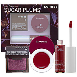 Korres, Korres Sugar Plums Gift Set, beauty giveaway, Plum Cherry Oil Lipgloss, Plum Lip Butter, Plum Shimmering Eyeshadow, makeup, lipgloss, lip gloss, lip balm, eye shadow