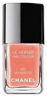 Chanel, Chanel nail polish, Chanel Orange Fizz, Chanel nail lacquer, Chanel Le Vernis Nail Colour, nail polish trends, spring nail polish trends, summer nail polish trends, fall nail polish trends, bright nail polish, orange nail polish, orange nails