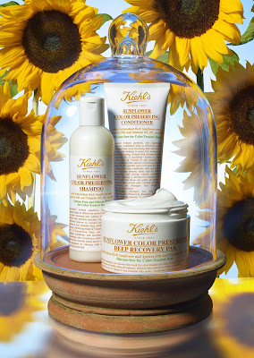 Kiehl's, Kiehl's Sunflower Color Preserving Hair Care Collection, shampoo, conditioner, Kiehl's Sunflower Color Preserving Deep Recovery Pak, hair mask, hair products, hair masque, giveaway, beauty giveaway, A Month of Beautiful Giveaways