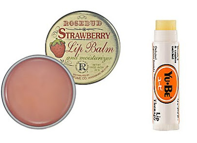 lip, lips, lip balm, balm, Smith's Rosebud Strawberry Lip Balm, Yu-Be Lip Therapy