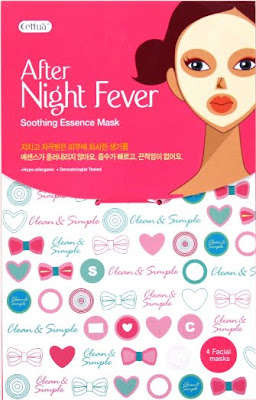Cettua, Cettua After Night Fever Soothing Essence Mask, sheet mask, mask, skincare mask, face mask, skin, skincare, skin care