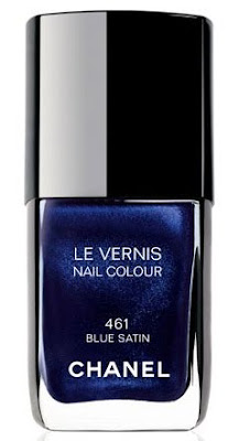 Chanel, Chanel nail polish, Chanel Le Vernis Nail Colour, Chanel Blue Satin, blue nail polish, nails, nail polish
