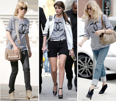 chanel shirts with stripes and logo