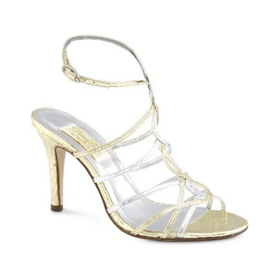 bridal shoe silver and metalic pic2