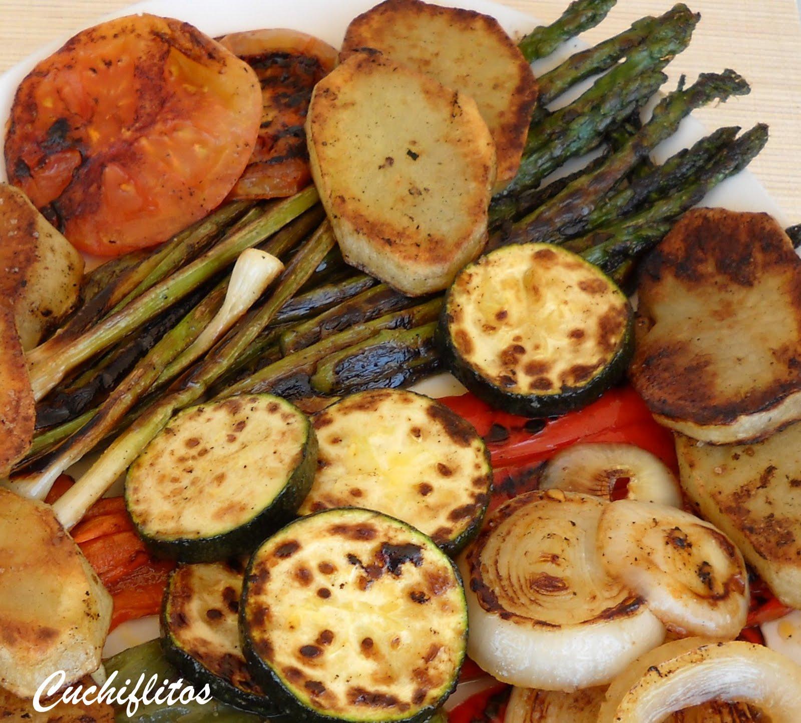 Cuchiflitos parrillada de verduras for Parrillada verduras