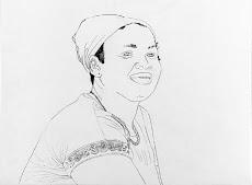 Zenaida. Lápiz sobre papel. 61x48.4 cm. AMH