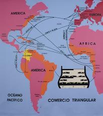 Comercio Triangular – 2007. Dibujo acrílico sobre tela. 326 x 326 cm. Ana Mercedes Hoyos