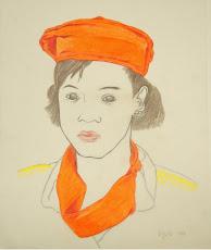 ORIKA - 1994. Lápiz de color sobre papel. 28 x 22 cms. AMH