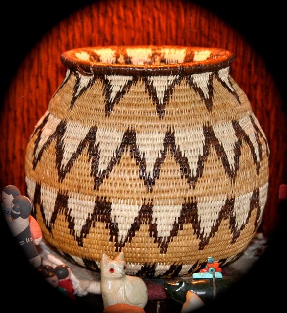 keep calm and craft on american indian handmade basket