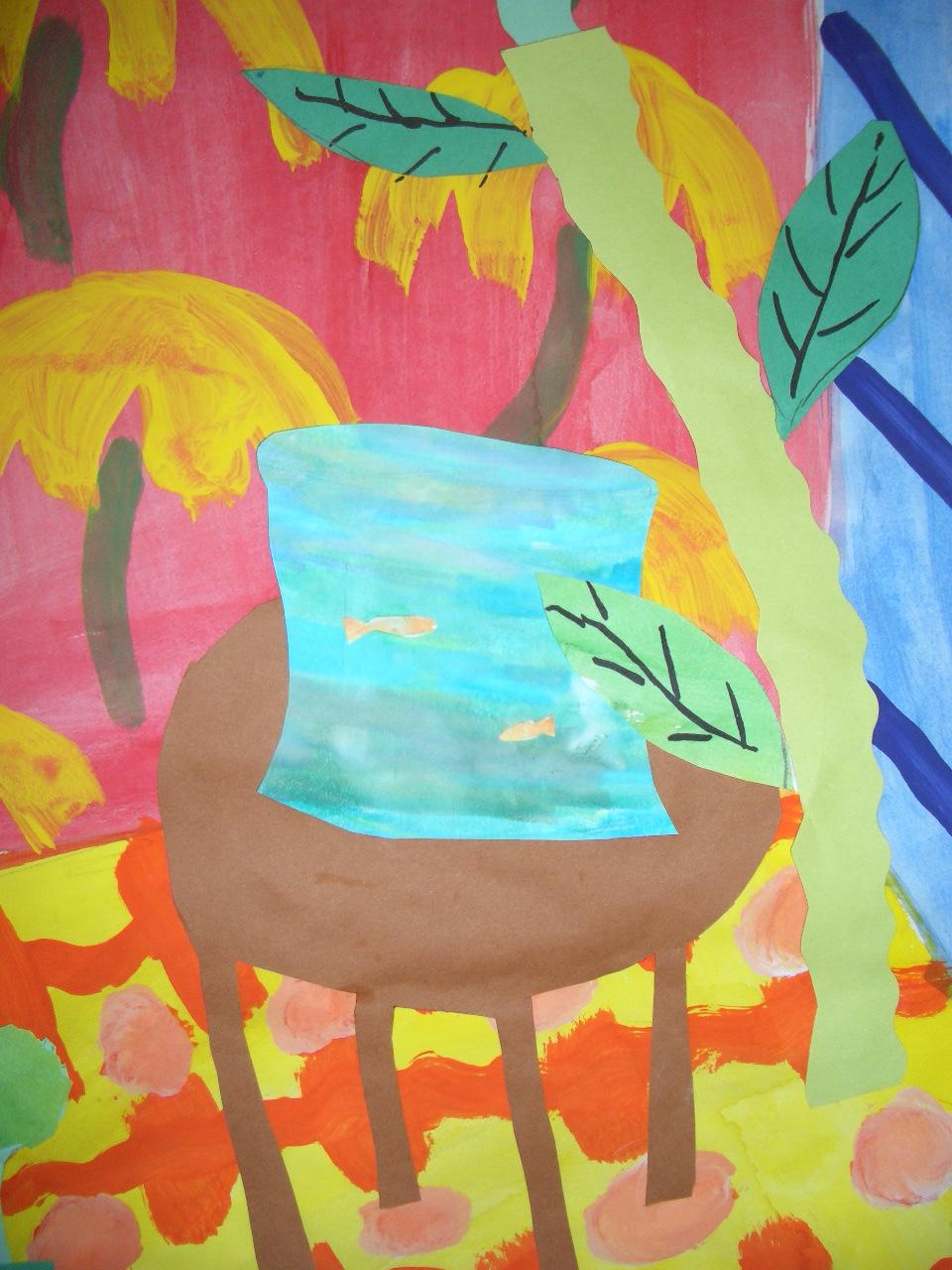 Henri Matisse Fish Bowl Mixed Media Project Grade 5
