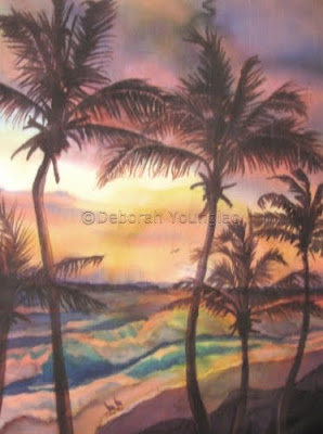 Younglao seascape painting Sunrise at Cattlewash 2