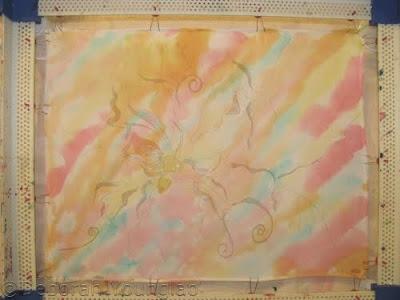 batik painting in progress