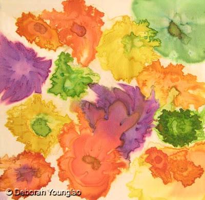 Deborah Younglao abstract silk painting