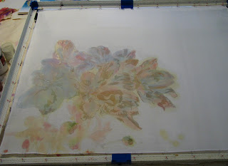 deborah younglao silk painting in progress