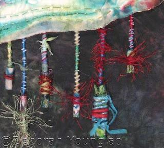deborah younglao silk art quilt detail