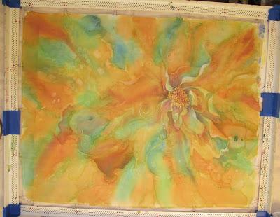 Younglao batik painting step 3