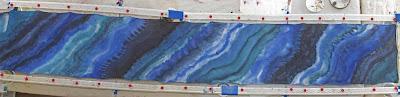 Deborah Younglao silk scarf on frame