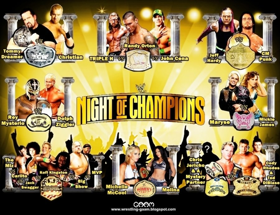 Wrestling gaam wallpapers ppv - Night of champions 2010 match card ...