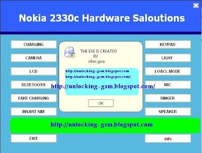 free unlock your Gsm  free unlock    Nokia    2330c hardware