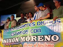 Jovenes solidarios con Nixon Moreno