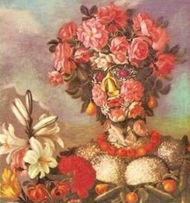 Arcimboldo - Le printemps / couverture de l'éd. GF 1964 de Lucrèce, De la nature