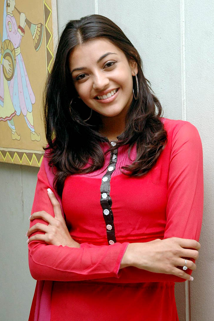 Kajal Agarwal in Red Salwar Kameez - Kajal Agarwal in Red Salwar Kameez looking cute