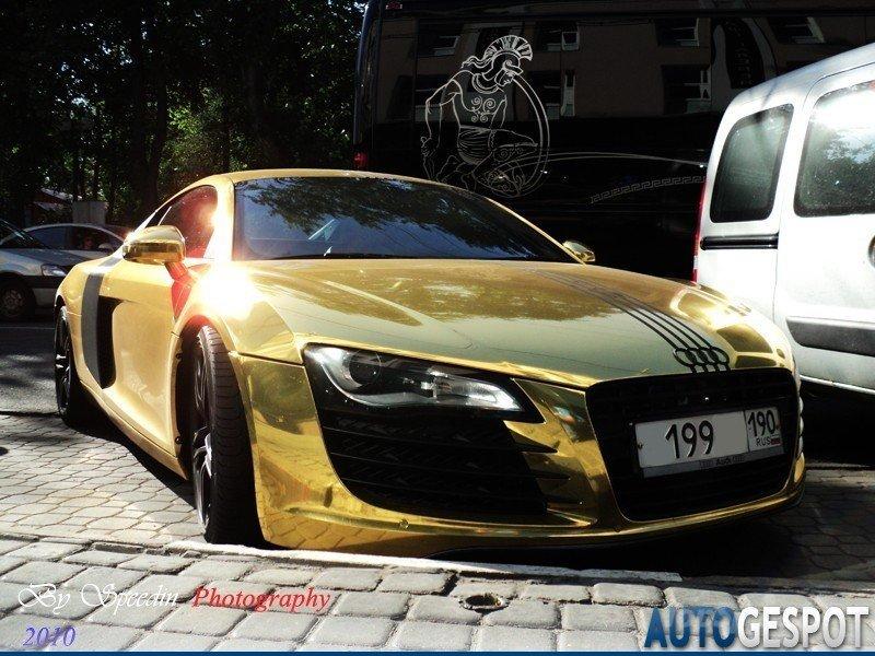 Thesuperduperdopelife Golden Audi R8