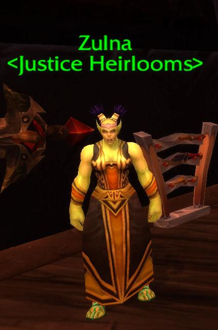 Warcraft Corner Heirloom Vendor Now