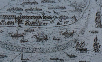 Portuguese ships at Ternate