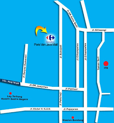 Map to Paris Van Java Mall