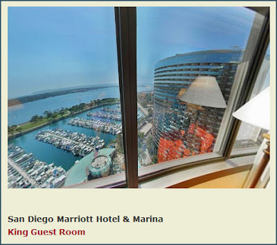 View from the Marriott Marina Hotel Room