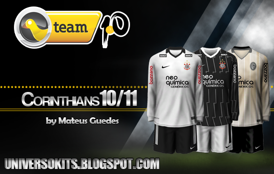 FIFA 11: Kits do Corinthians 2011/2012 + Kit Centenário fifa11 uniformes