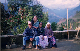 With my papa and mom in village house