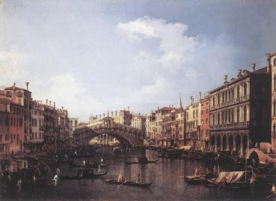 Мост Риальто. Картина Каналетто