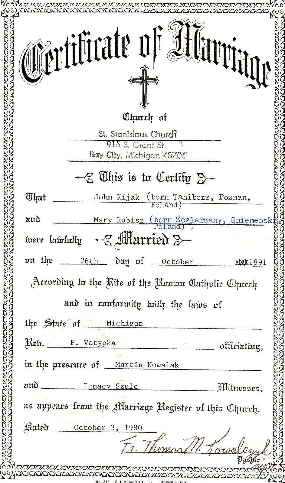 Perfecto Marriage Certificate Michigan Composicin Para La
