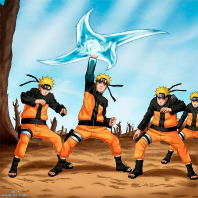 Double Rasengan Futon Rasen Shuriken Growing Moon