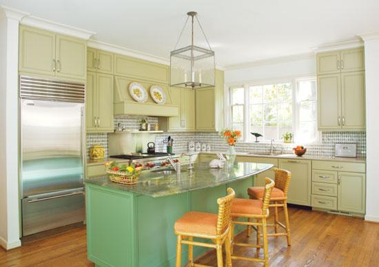 Green Painted Kitchen Sage Green Kitchen Cabinets Turquoise Kitchen