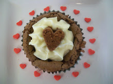 Brownie Heart Cupcakes