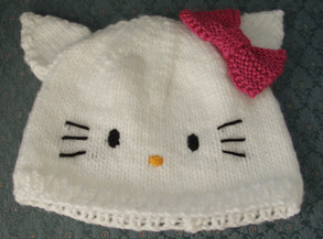 Knitting Pattern Hello Kitty : Beadwhore Knitting: Hello Kitty Hat