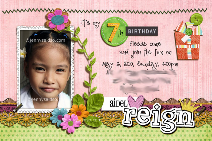 Sample 7th birthday invitation militaryalicious sample 7th birthday invitation stopboris Images