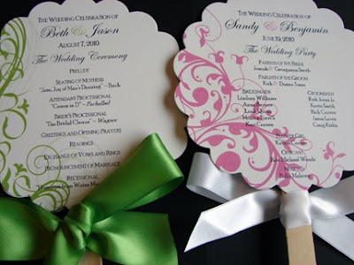 These programs are fantastic for an outdoor backyard wedding