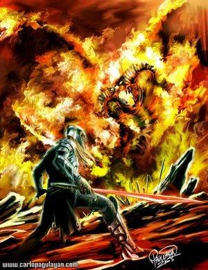 Fëanor vs El Señor de los Balrogs