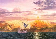 Llegada de Vingilot, el barco de Eärendil