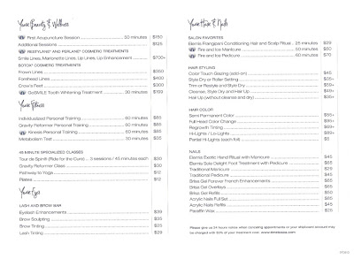 Template beauty parlour price list templet have about pictures