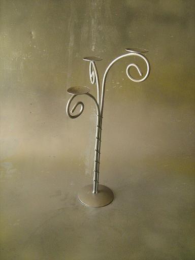 Bases de alambre y alambron candelabro 3 velas - Base de vela ...