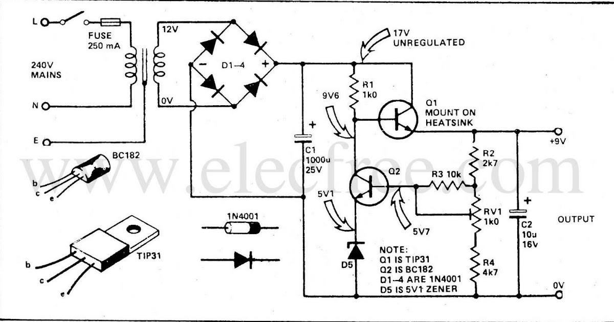 electronic  u0026 computer  regulated power supply by transistor  tip31