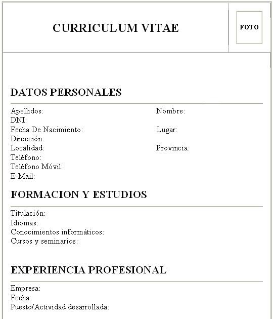Empleo y Capacitacion Laboral: ¿Como hacer un Curriculum Vitae?
