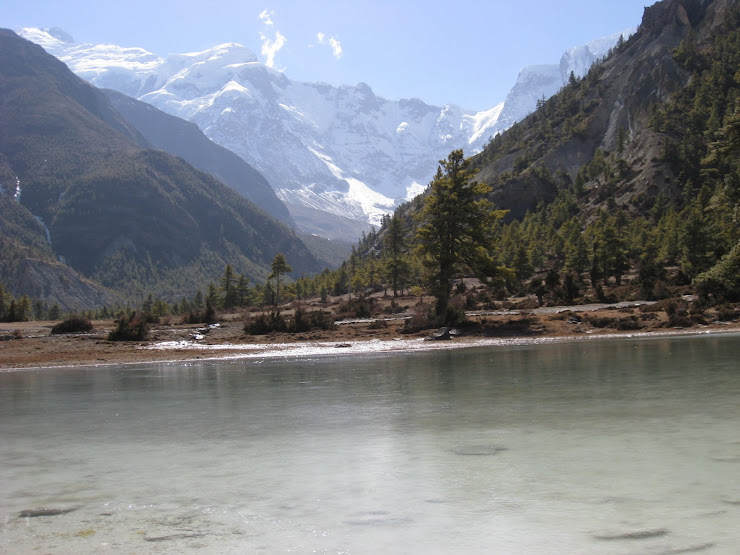 The Ice lake front of annapurna 4..