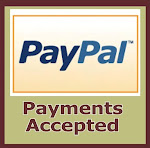 We now accepts payment via PAYPAL